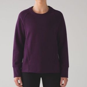Lululemon Back to It Crew Sweatshirt Purple